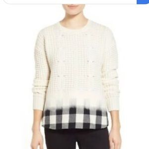 Madewell Cream Winter Mix Cable Knit Sweater